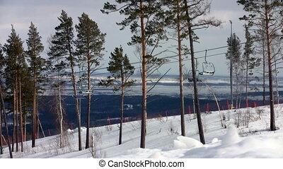 Chairlift at ski resort