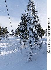 chairlift, -, hochficht, esquiadores