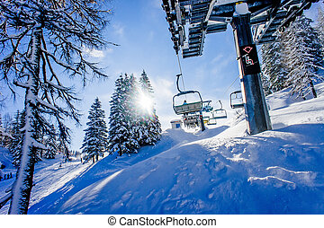 Chairlift in a Ski Resort