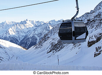 chairlift in mountains