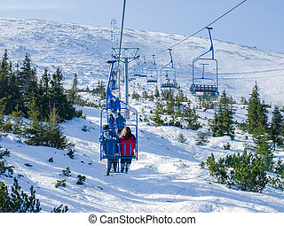 Chairlift on ski resort Jasna in Slovakia