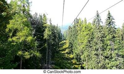 Chairlift ride - View of nature from chairlift during ride...