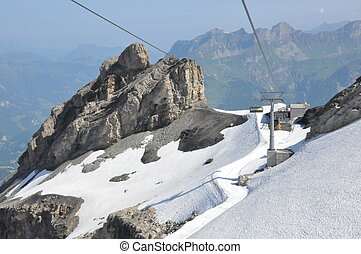 Chairlifts at Mount Titlis in Switzerland