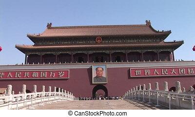 Chairman Mao and Forbidden City - Portrait of Chairman Mao...