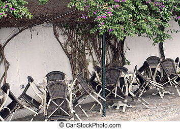 Chairs against the wall