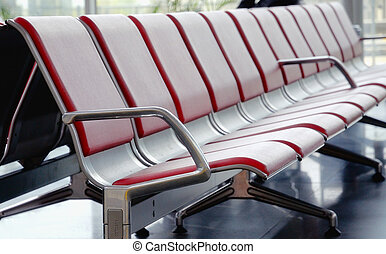 Chairs at the airport.