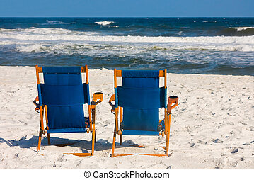 Chairs at the beach in Florida