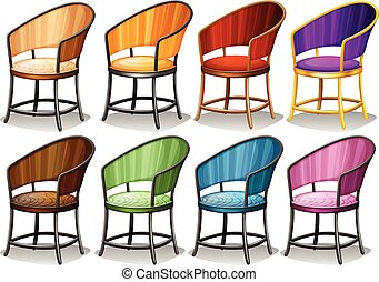 different kind of chairs in luxury designs clip art vector search rh canstockphoto com chair clipart png chairs clipart black and white