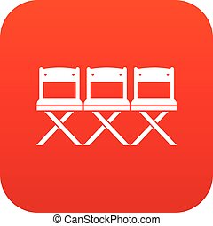 Chairs icon digital red