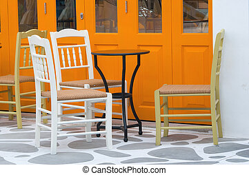 chairs in a shop