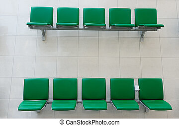 Chairs in departure hall