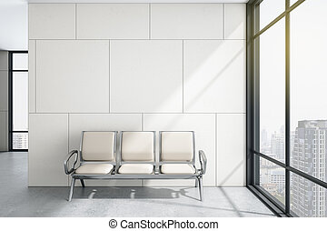Chairs in modern waiting room