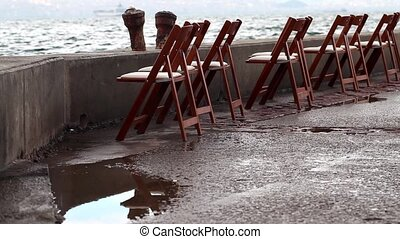 Chairs near the seaside