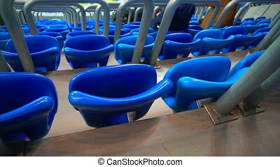 Chairs of a big stadium sports.