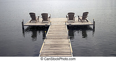 chairs on the deck