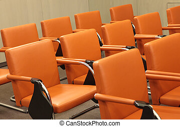 Chairs - Rows of chairs in conference hall
