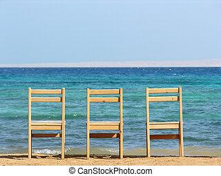 chairs., sea.