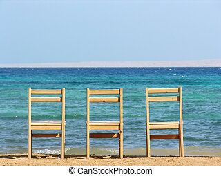 chairs., sea.