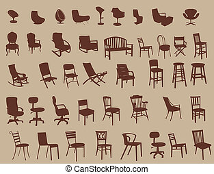 Chairs - Collection of chairs
