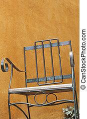 chaise, acier