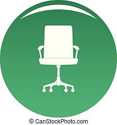 chaise bébé, vecteur, vert, icône