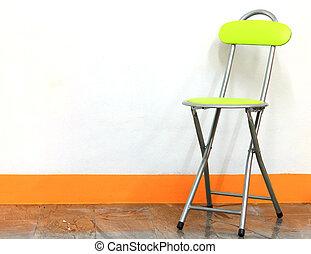 chaise, blanc vert, fond