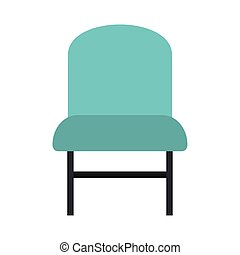 chaise, bleu, icône
