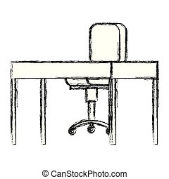 chaise bois, bureau bureau