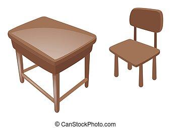 chaise bois, bureau