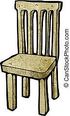 chaise bois, dessin animé