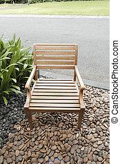 chaise, bois, fait