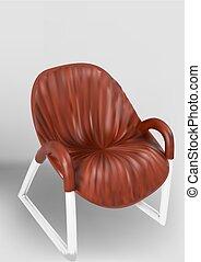 chaise bois, jambes, métal