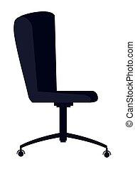 chaise, bureau, dessin animé, ergonomique, icône