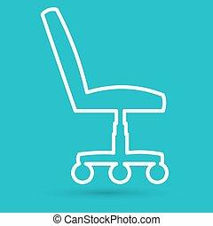 chaise, bureau, duper