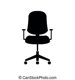 chaise bureau, silhouette