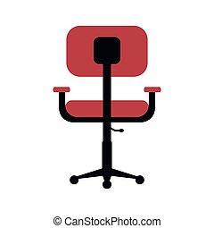 chaise, confort, conception, lieu travail, bureau