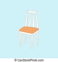 chaise, cuisine, icône