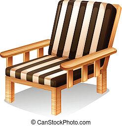 chaise, délassant, meubles