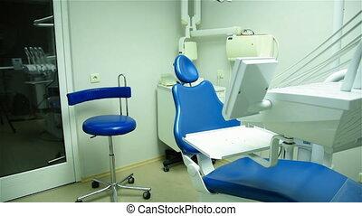 chaise dentaire, clinique, bureau
