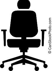 chaise, ergonomique, bureau