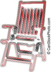 chaise, extérieur, illustration