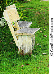 chaise, garez banc