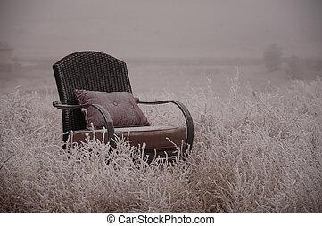 chaise, givré
