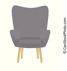 chaise, gris