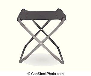 chaise, gris, peche
