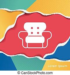 chaise, icône