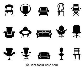 chaise, icônes