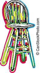 chaise, illustration