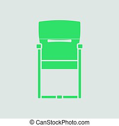 chaise, invité, bureau, icône