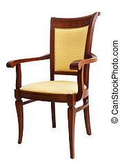 chaise, isolé, blanc, fond